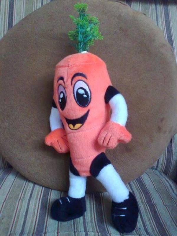 Boneka Kesehatan Buah Wortel, Apel, Pisang, dan Kawan-kawan