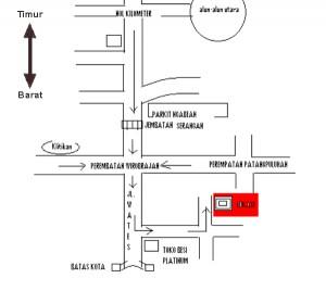 peta lokasi roesone craft