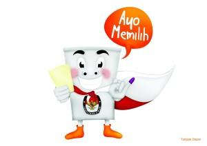 Maskot Ayo Memilih untuk Indonesia