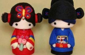 Boneka Sepasang Kekasih Adat China dan Seluruh Indonesia