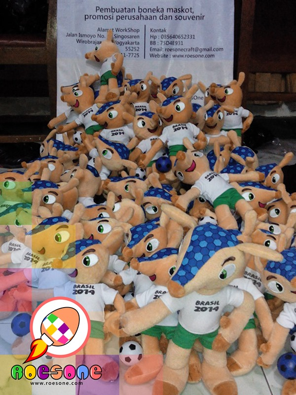 World Cup Mascot Dolls 2014
