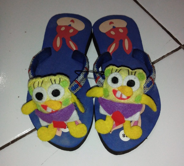 Sandal Boneka Kesukaan Anak Lucu Sponge Bob