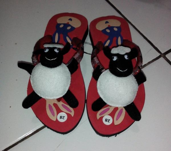 Sandal Boneka Shaun The Sheep Souvenir Ulang Tahun Anak