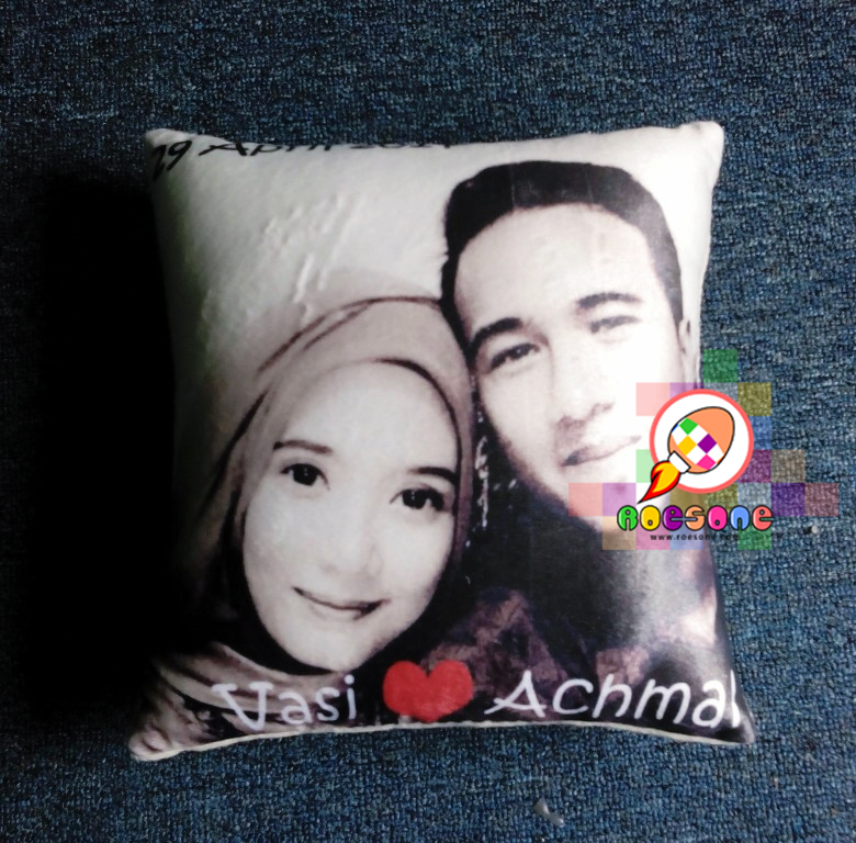 Bantal Foto Couple Full Print