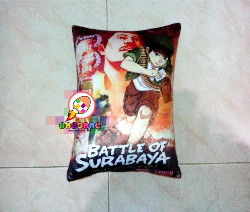 Bantal Desain Battle of Surabaya Full Print