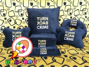 Bantal Printing TURN BACK CRIME