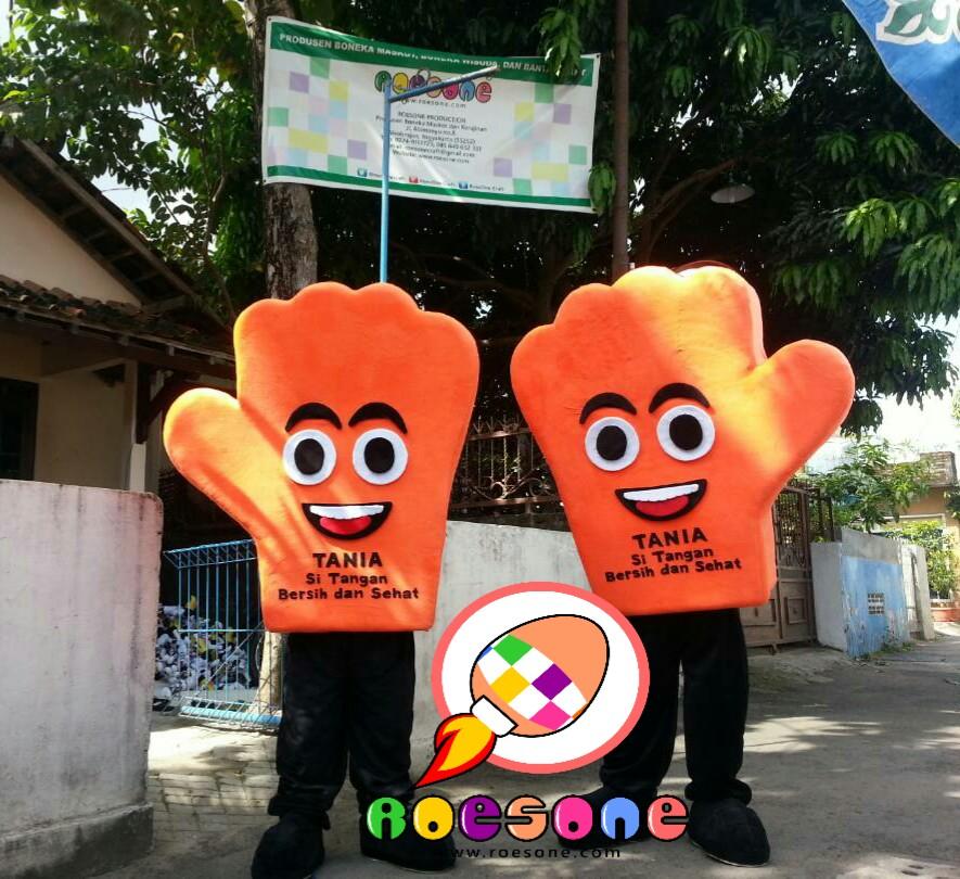 Produsen Badut Maskot TANIA si Tangan Bersih dan Sehat