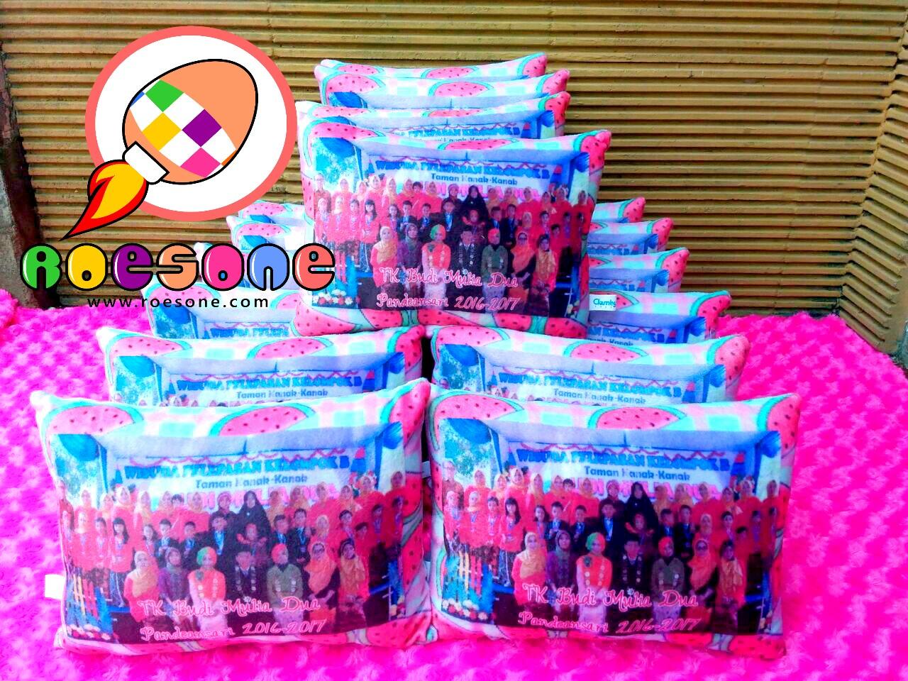 Bantal Print Souvenir Wisuda TK Budi Mulia Dua