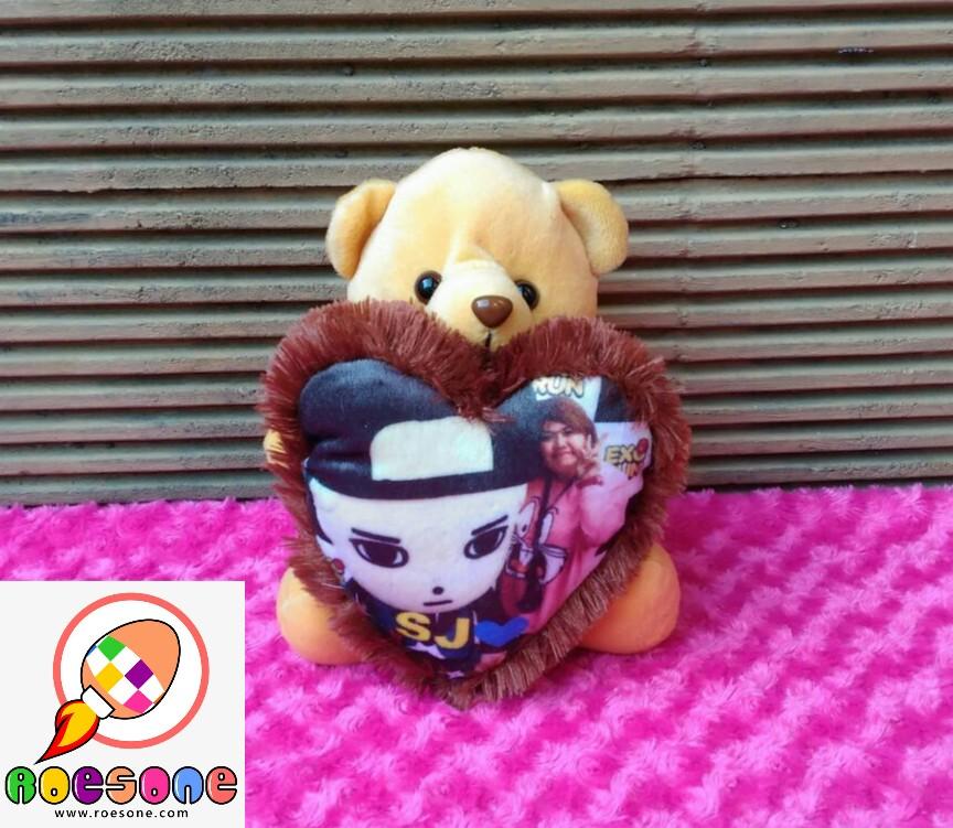 Jual Paket Boneka Teddy Bear Lengkap Dengan Bantal Foto