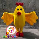 Boneka Maskot Badut Ayam Wek-Wek Chicken