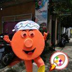 Boneka Maskot Badut Si GOLAM Gong Lamandau Kalimantan