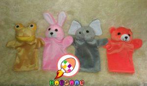 Produsen Boneka Tangan Karakter Gajah dan Beruang