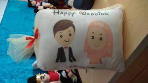 Produsen Bantal Souvenir Wedding Pernikahan Islami
