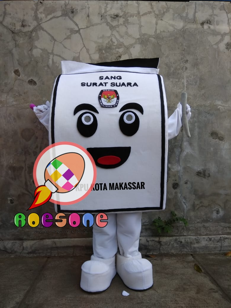 Produsen Boneka Badut KPU Kota Makassar