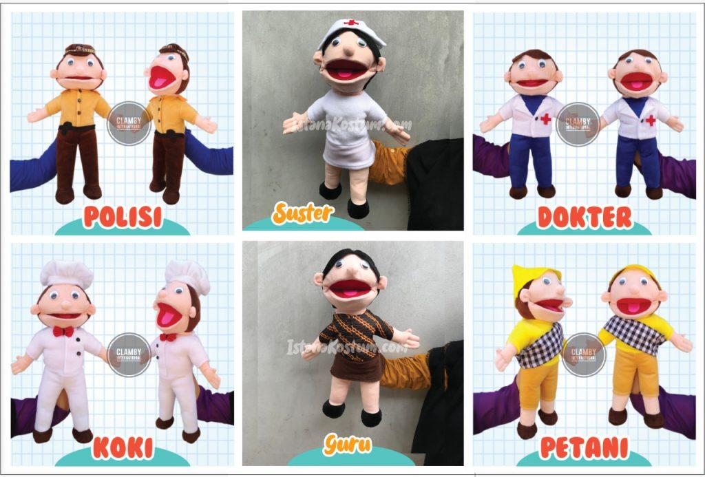 Promo Paket Lengkap Boneka Muppet Profesi