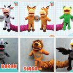 Paket Boneka Tangan Edukasi Karakter Animals Murah