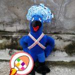 Produsen Boneka Maskot Burung Mambruk Goura Dara Mahkota Papua