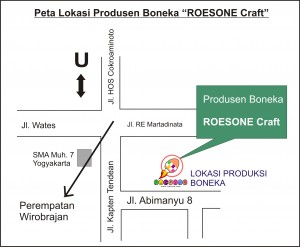 Peta Lokasi RoesOne Craft Yogyakarta