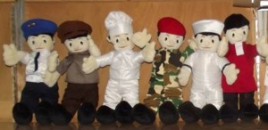 Pembuatan Boneka Profesi POLISI dan Kostum