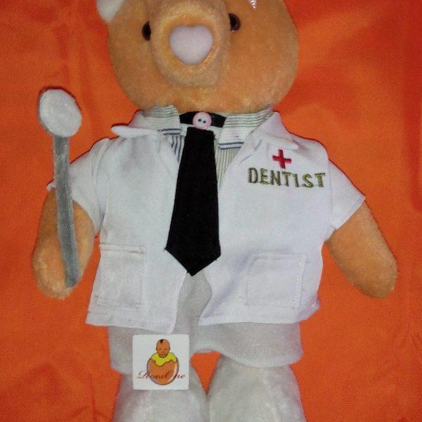 Boneka Profesi Dokter Gigi dengan Kostum