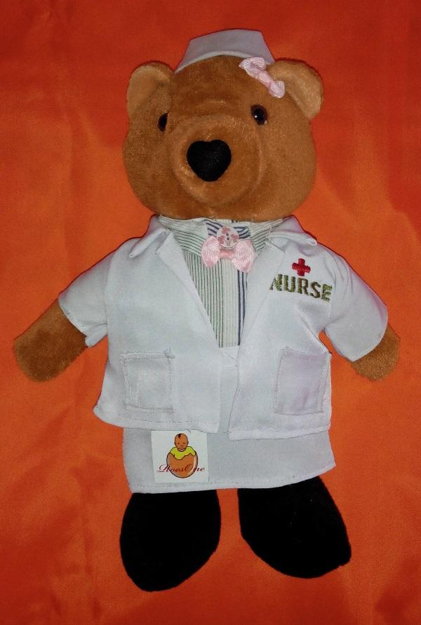 Boneka Profesi Perawat dan Suster dengan Kostum