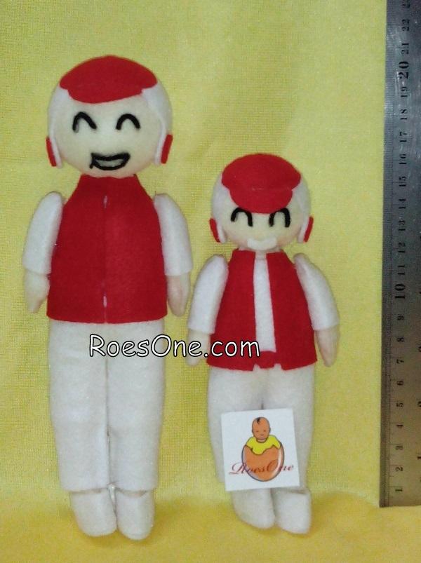 Boneka Maskot Dealer dan Geng Motor