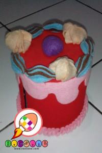 Kue untuk Celengan dan Tempat Tisu Lucu