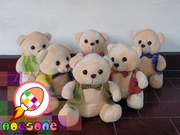 Boneka Teddy Bear Batik Souvenir Pernikahan