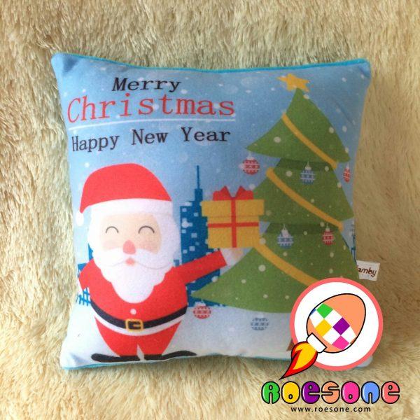 Produsen Bantal Print Souvenir Natal Merry Christmas