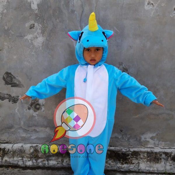 Pembuatan Kostum Anak Karakter Unicorn Kuda Frozen