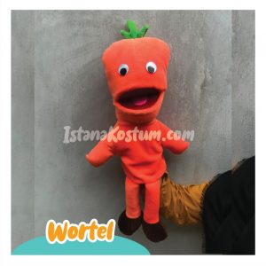 Produsen Boneka Muppet Edukasi Karakter Buah Wortel