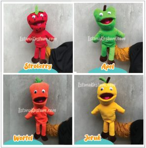 Paket Boneka Muppet Edukasi Karakter Buah-Buahan Terlengkap