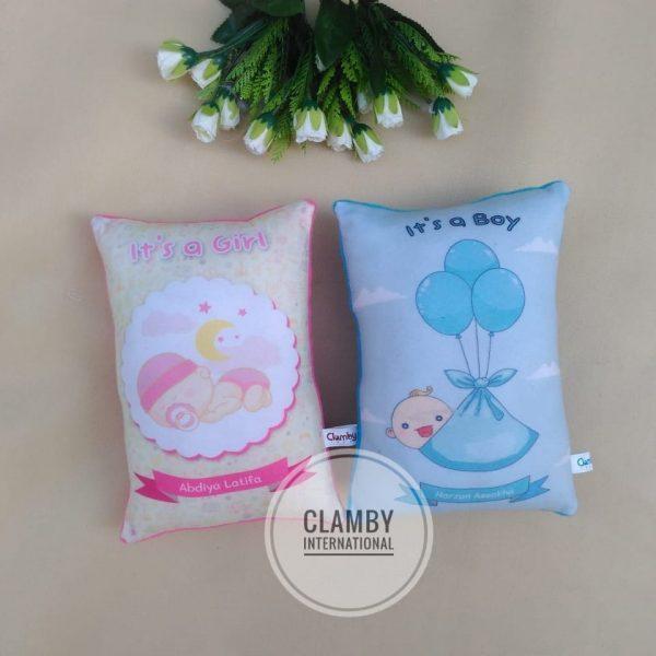 Produsen Bantal Print Souvenir Baby Born Murah