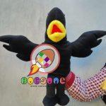 Produsen Boneka Tangan Muppet Burung Gagak Hitam